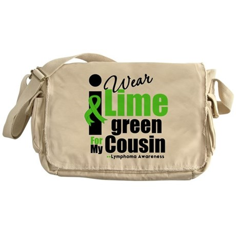 I Wear Lime Green Cousin Messenger Bag