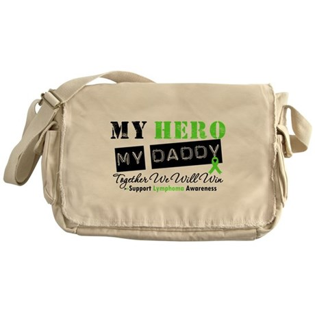 Lymphoma Hero Daddy Messenger Bag