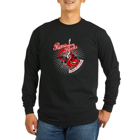 Oral Cancer Remission ROCKS Long Sleeve Dark T-Shi