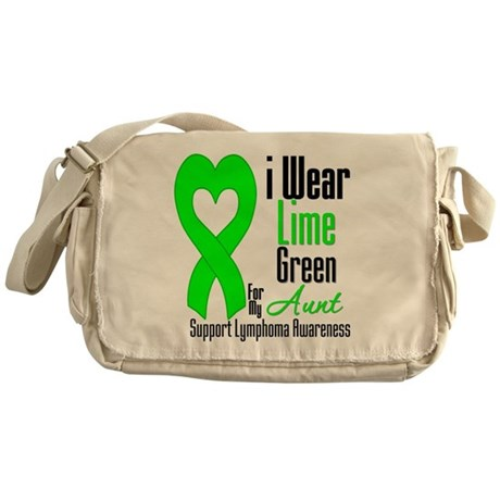 Lymphoma Heart Aunt Messenger Bag