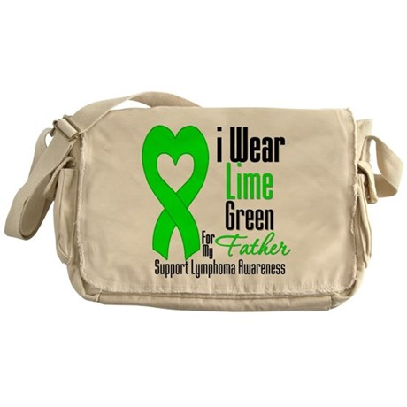 Lymphoma Heart Father Messenger Bag