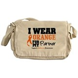 Orange Ribbon Messenger Bag