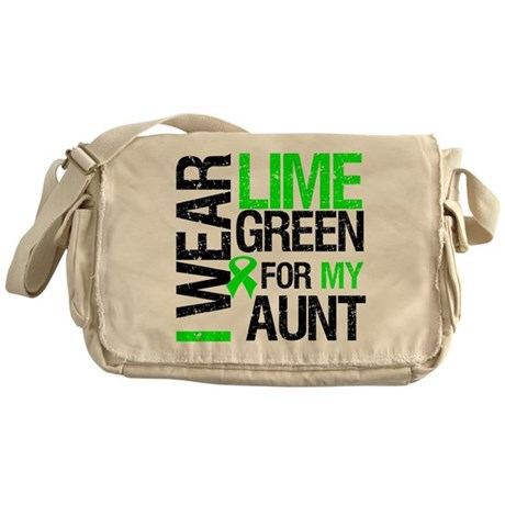 I Wear Lime Green Ribbon Messenger Bag