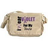 I Wear Violet Ribbon Messenger Bag