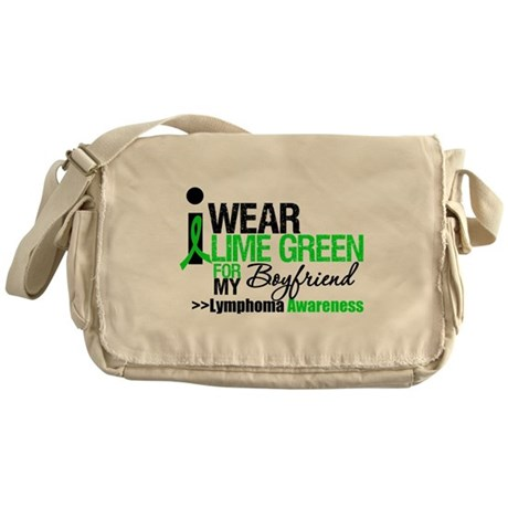 I Wear Lime Green Messenger Bag