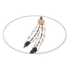 Feather Oval Decal