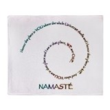 Meaning of Namaste Throw Blanket