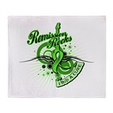 Lymphoma Remission ROCKS Throw Blanket