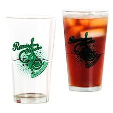 Liver Cancer Remission ROCKS Drinking Glass