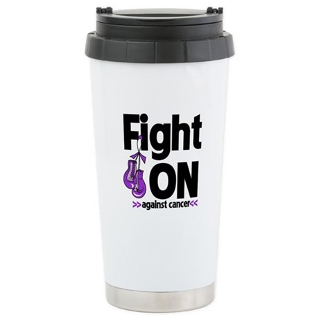 Fight On Pancreatic Cancer Ceramic Travel Mug