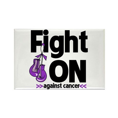 Fight On Pancreatic Cancer Rectangle Magnet