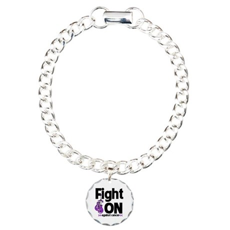 Fight On Pancreatic Cancer Charm Bracelet, One Cha