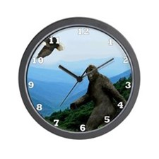 Bigfoot Great Smoky Mountains Wall Clock