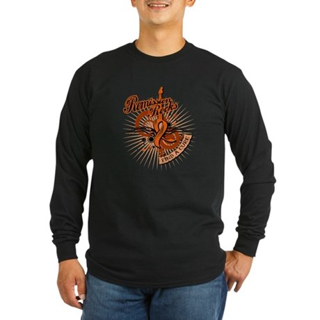 Leukemia Remission ROCKS Long Sleeve Dark T-Shirt