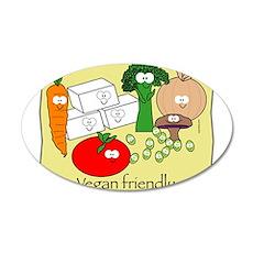 Vegan Friendly 22x14 Oval Wall Peel