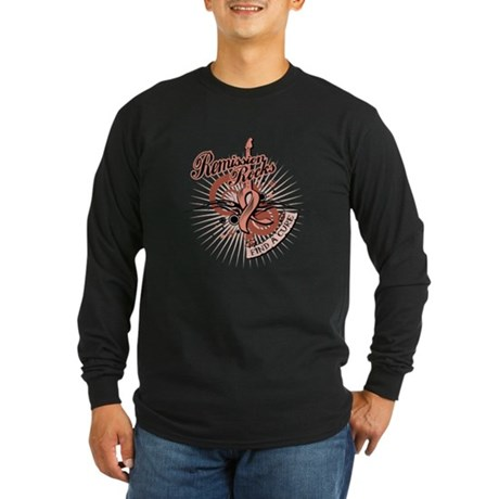 Endometrial Cancer Remission Long Sleeve Dark T-Sh