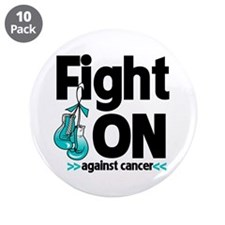 "Fight On Cervical Cancer 3.5"" Button (10 pack)"