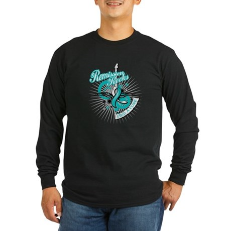 Cervical Cancer Remission ROC Long Sleeve Dark T-S