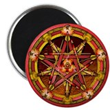 Fire Elemental Pentacle Magnet