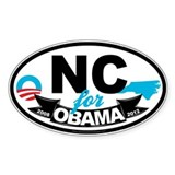 North Carolina for Obama 2012 Decal