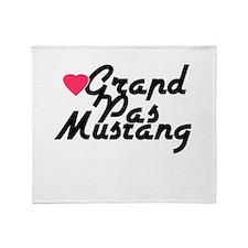 Grand Pas Mustang Throw Blanket
