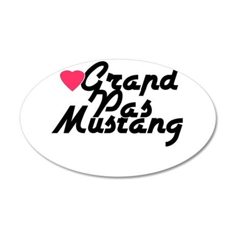 Grand Pas Mustang 38.5 x 24.5 Oval Wall Peel