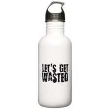 Let's Get Wasted Water Bottle