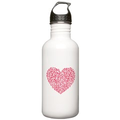 Pink Heart of Skulls Stainless Water Bottle 1.0L