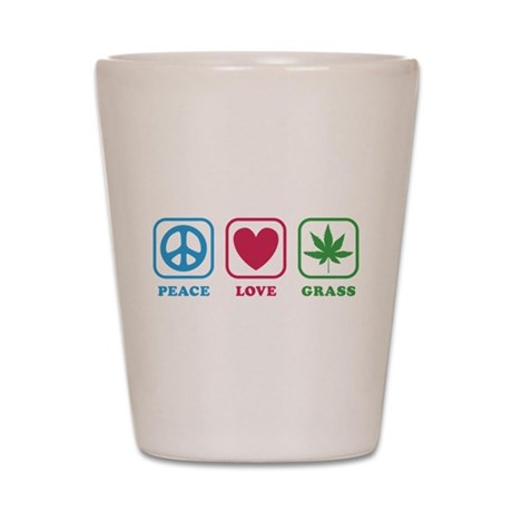 Peace Love Grass Shot Glass