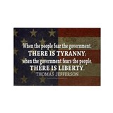 Liberty vs. Tyranny - New Rectangle Magnet