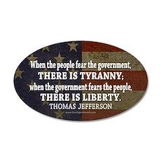 Liberty vs. Tyranny - New 38.5 x 24.5 Oval Wall Pe