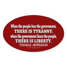 Liberty vs. Tyranny - New Decal