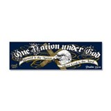 One Nation - Blessed Car Magnet 10 x 3