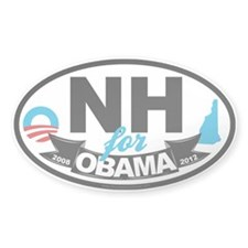 New Hampshire for Obama 2012 Decal