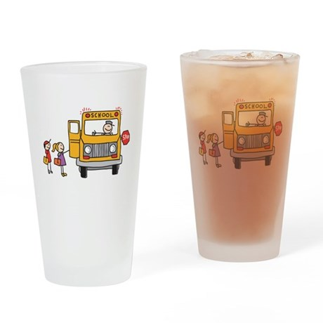 Back-to-School Drinking Glass