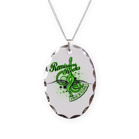 NonHodgkins Remission Rocks Necklace Oval Charm