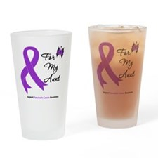 Pancreatic Cancer Aunt Drinking Glass