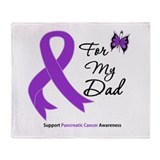 Pancreatic Cancer Dad Throw Blanket