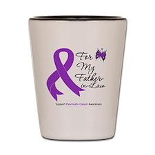 Unique Pancreatic cancer purple ribbon Shot Glass