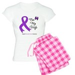 Pancreatic Cancer Wife Women's Light Pajamas