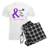 Pancreatic Cancer Wife Men's Light Pajamas