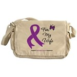 Pancreatic Cancer Wife Messenger Bag