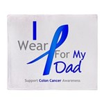 Colon Cancer Dad Throw Blanket
