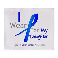 Colon Cancer Daughter Throw Blanket
