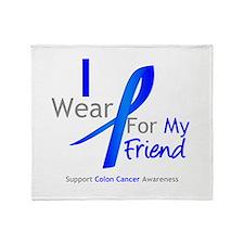 Colon Cancer Friend Throw Blanket