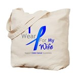 Colon Cancer Wife Tote Bag
