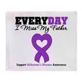 Alzheimer's MissMyFather Throw Blanket