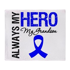 AlwaysMyHero Grandson Throw Blanket