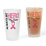 AlwaysMyHero Sister Drinking Glass