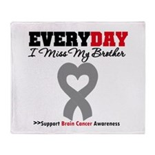 Brain Cancer Brother Throw Blanket